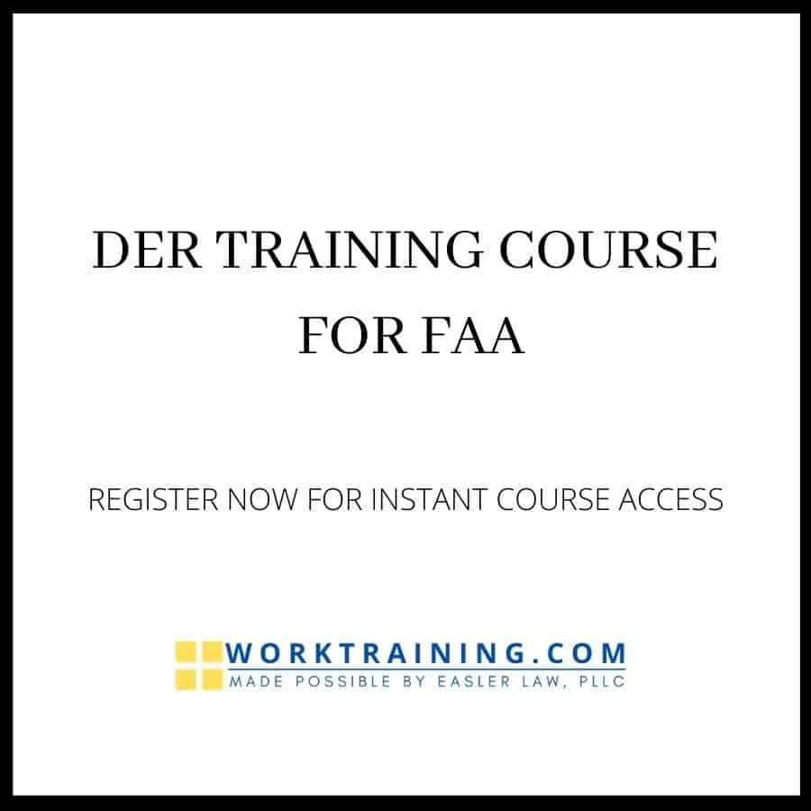 DER TRAINING COURSE FOR FAA